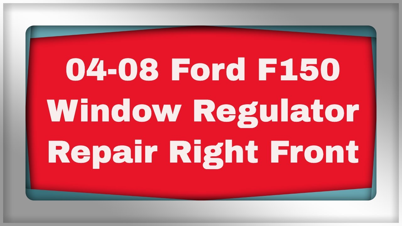 F150 Window Regulator Replacement Youtube