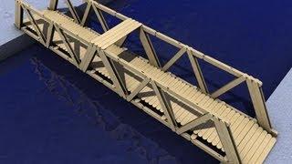 Popsicle stick bridge holds 220 lbs man at my school. I built this myself.