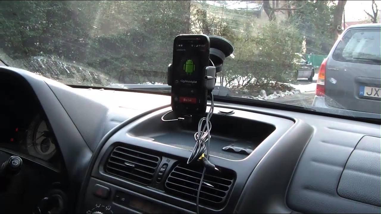 Dension car dock for smartphone - YouTube