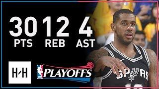 LaMarcus Aldridge Full Game 5 Highlights Spurs vs Warriors 2018 Playoffs - 30 Pts, 12 Reb, 4 Ast!