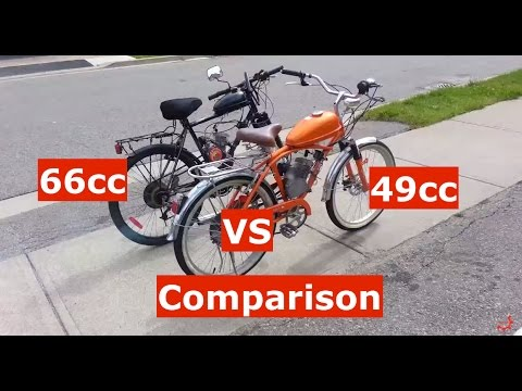 80cc Vs 49cc Motorized Bicycle Grubee Skyhawk Ebay Conversion Kits