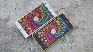 Сравнение Sony Xperia Z3 Compact и Sony Xperia Z1 Compact(Демонстрация работы двух смартфонов Sony: Z1 Compact и Z3 Compact. Новинка стала мощнее, у нее больше емкость аккумулят..., 2014-09-17T07:49:11.000Z)