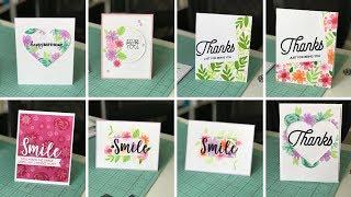 8 Cards, One Stamp Set- MFT Modern Bloom