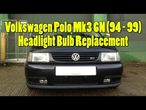 VW Polo Mk3 6N 94-99 Headlight Bulbs check and replace how to!