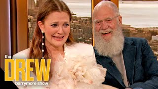 Drew Bursts into Tears When David Letterman Surprises Her in Person for a Birthday Bash Episode