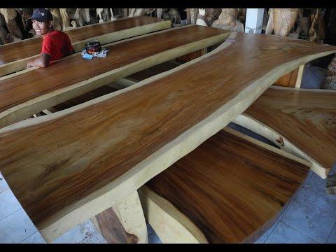 Slab Dining Room Furniture  Solid Wood Dining Table Slabs