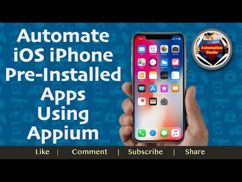 Session 20: Automate IOS IPhone Pre-Install Apps Using Appium