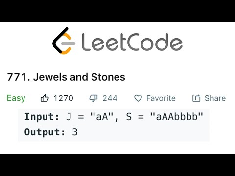 LeetCode Jewels and Stones Explained - Java
