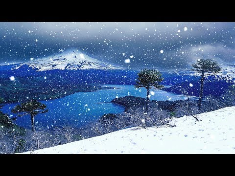 Sleep Music with Snow Falling Peacefully at Night - Relaxing Music Video for Sleeping