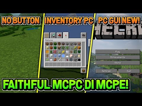 MCPE JADI MCPC! TEXTURE FULL GUI MCPC! WAJIB DOWNLOAD CUY | MINECRAFT