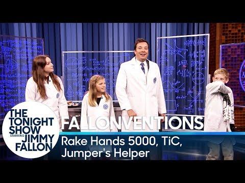 Fallonventions: Rake Hands 5000, TiC (Tongue-Interface-Communication), Jumpers Helper