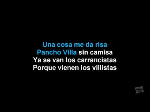 La Cucaracha in the style of Traditional karaoke video with lyrics