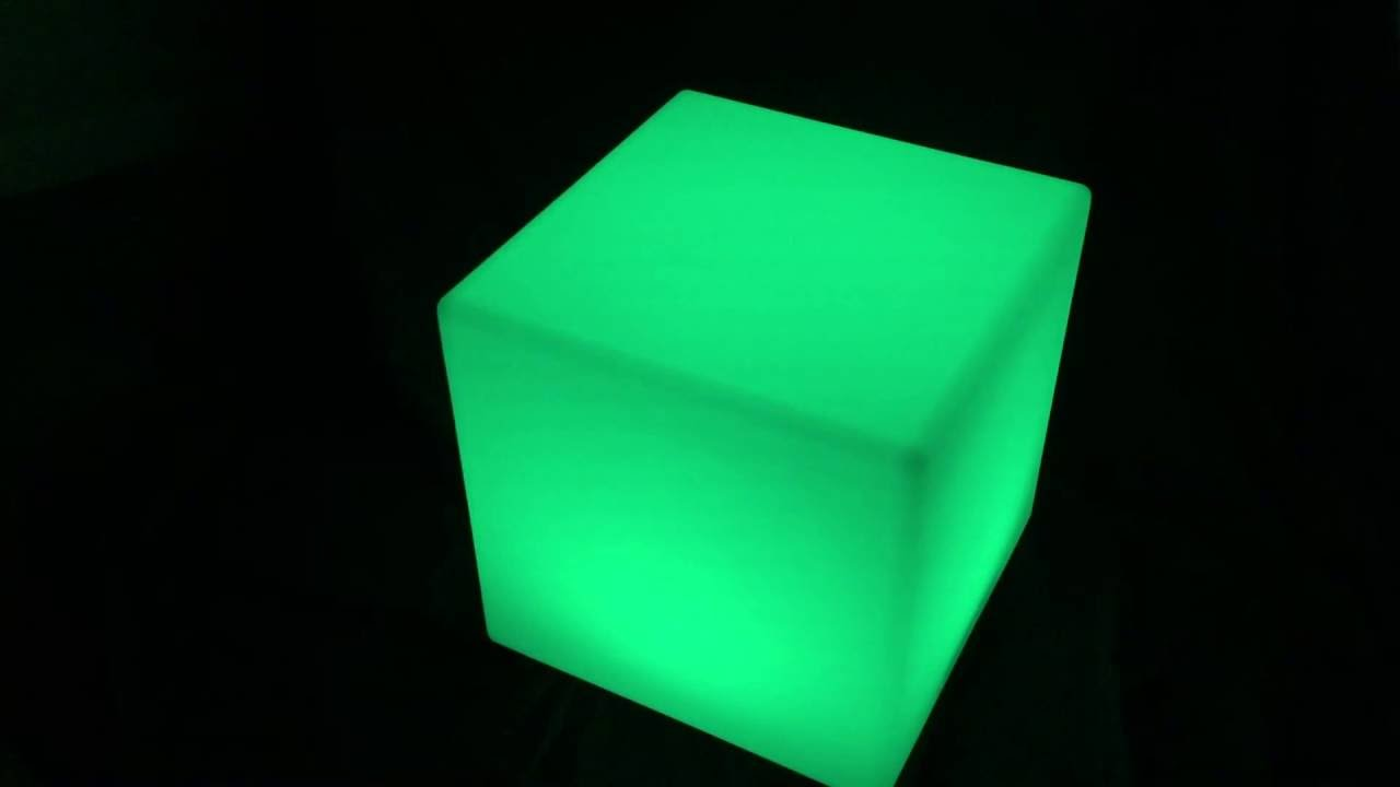 Glow Furniture Led Glow Furniture Led Cube Seat Youtube