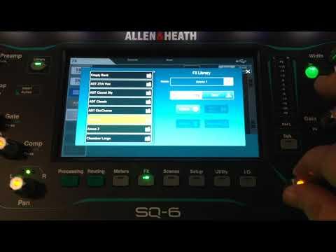 Allen & Heath SQ6 Vid4 effects