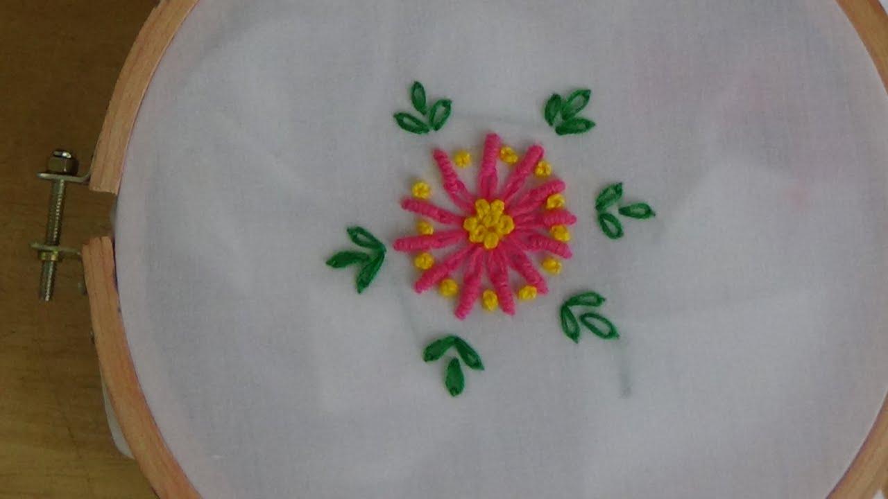 Hand embroidery lazy daisy bullion knot youtube