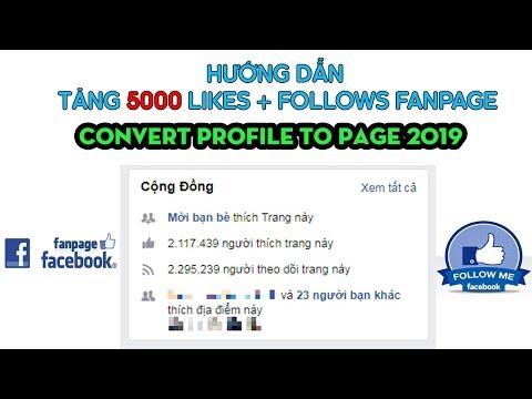 HƯỚNG DẪN TĂNG 5000 LIKES + THEO DÕI FANPAGE TRONG 5S || CONVERT PROFILE TO PAGE 2019