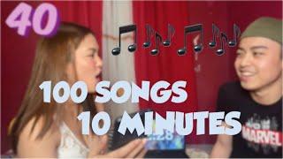 100 songs in ten minutes (nag cover kami ng song) LarsXClyde