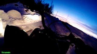 ATV Outlaw 525 Evening Snow Ride