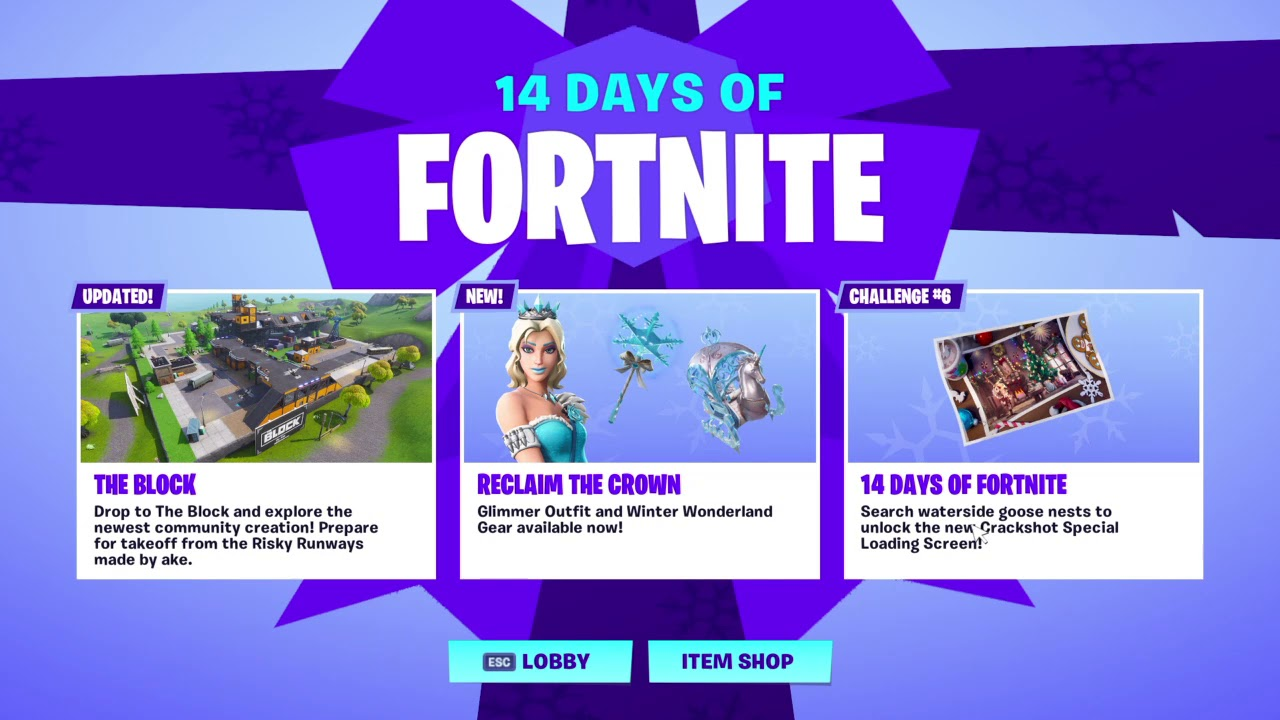 14 Days Of Fornite Challenge 6 Search Waterside Goose Nest Free