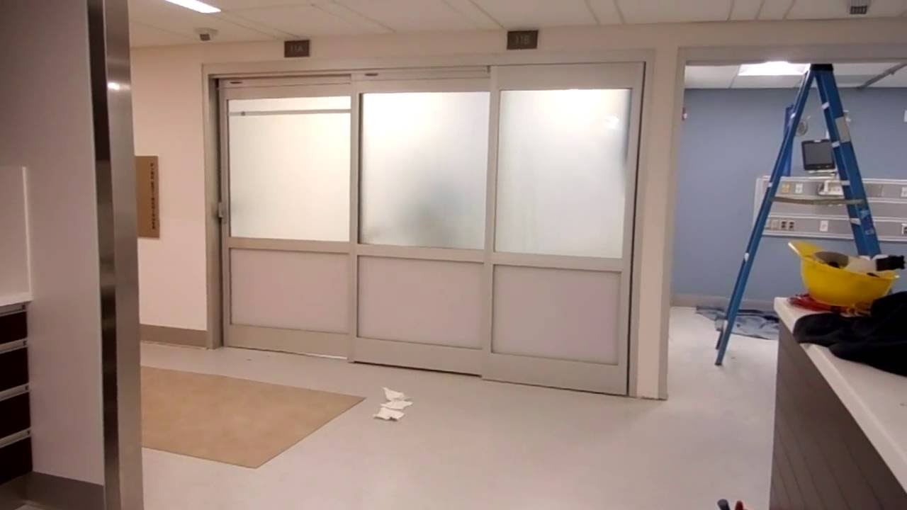 EGlass Doors   Switchable LC Privacy Glass For St Francis Hospital