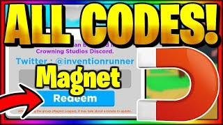 *ALL* 15 SECRET OP WORKING CODES! Roblox Magnet Simulator 🚀 SPACE
