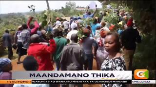 Maandamano Thika   Wakazi wakerwa na ujenzi wa bwawa