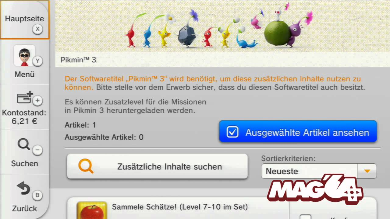 Mag 64 Wii U Pikmin 3 Update Eshop Download Youtube