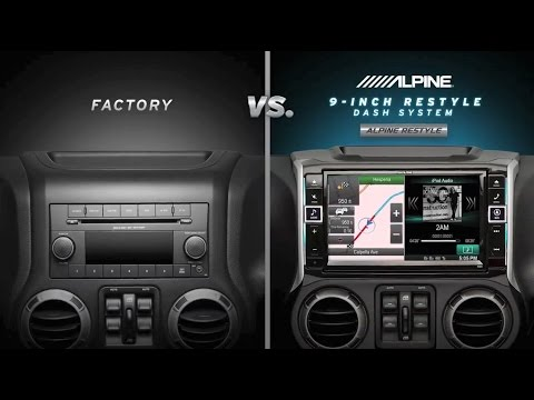 Alpine 9 Inch Restyle Dash System For Jeep Wrangler Youtube