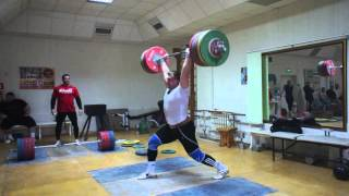 Dmitry Lapikov clean + squat + jerk 240 kg