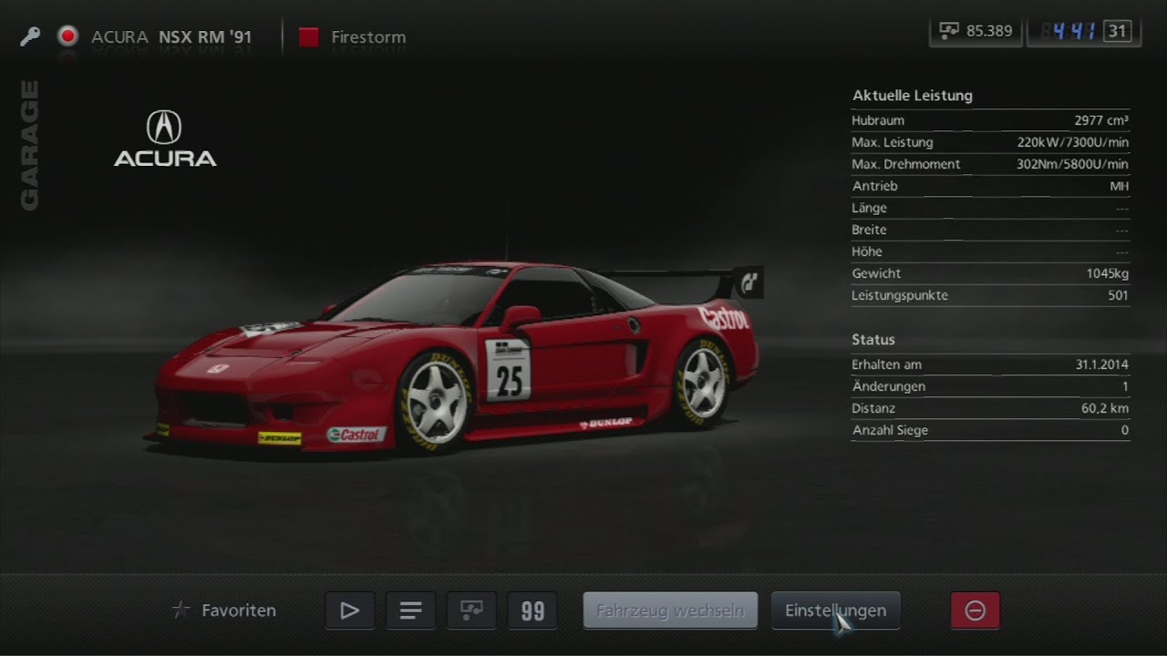 Honda Nsx Gran Turismo >> Gran Turismo 5: Gran Turismo Honda NSX Race Modification '92 - YouTube