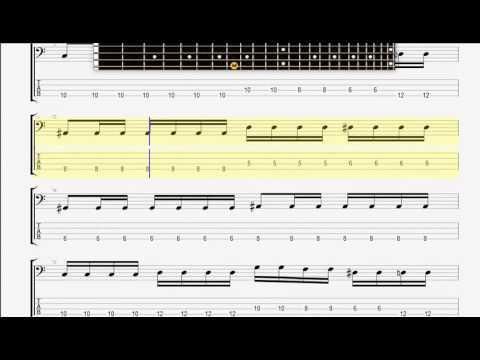 Avenged Sevenfold   Second Heartbeat BASS GUITAR TABLATURE