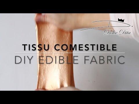 TISSU COMESTIBLE fait maison / DIY Edible Fabric Recipe for cakes
