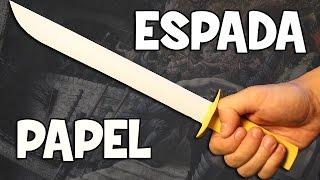 Como hacer una Espada de Papel | Espada Samurai