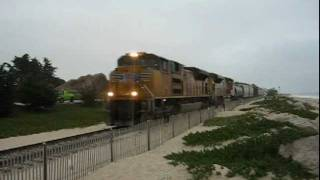 Union Pacific LOF67 (The Guadalupe Turn) at Carpinteria and Goleta, CA!!!