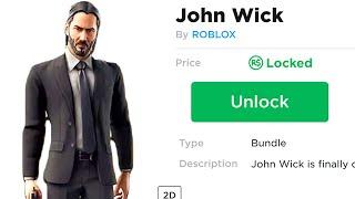 I unlocked John Wick in Roblox