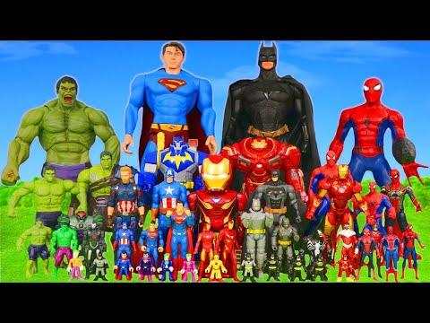 Superhero Toys: Spider Man, Avengers, Hulk & Batman Toy Vehicles Unboxing for Kids