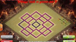 Clash of clans : Village rush et et guerre hdv 9