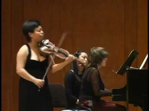 Yura Lee, violin - Schubert Duo Sonata (1 of 4)