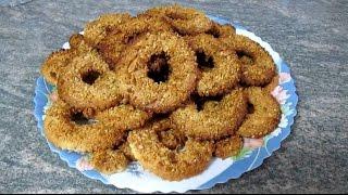 Песочное печенье, коржики колечки с орехами, песочные коржики, домашнее печенье