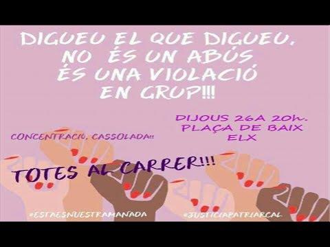 Manifestación en contra de la sentencia contra La Manada (Diario de Alicante)