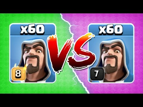 LEVEL 8 WIZARDS vs LEVEL 7! THE TRUTH!! - Clash Of Clans - GEM TO MAX LEVEL!