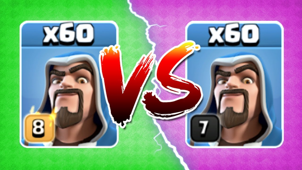 LEVEL 8 WIZARDS Vs LEVEL 7 THE TRUTH Clash Clans GEM TO MAX LEVEL