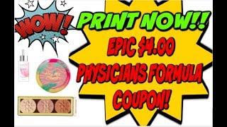 EPIC $4 PHYSICIANS FORMULA COUPON | FREE MAKEUP | RESETS & NEW COUPONS!