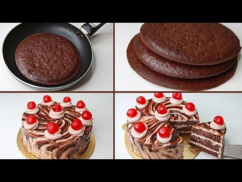 Chocolate Cake in Fry Pan | With Eggs / Eggless & Without Oven | Yummy Chocolate Cake Recipe