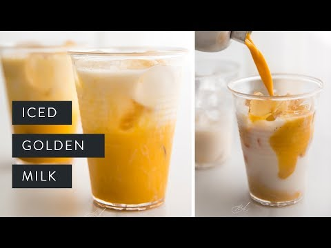 HOW TO MAKE ICED GOLDEN MILK ⦊ ayurveda classic for summer