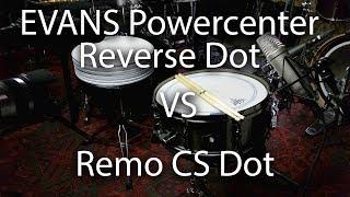Evans Powercenter Reverse Dot vs Remo CS Dot on Snare