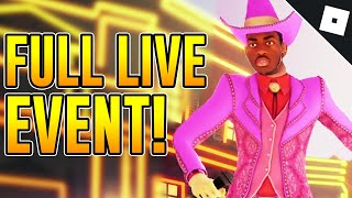 FULL LIL NAS X ROBLOX CONCERT EVENT | Roblox