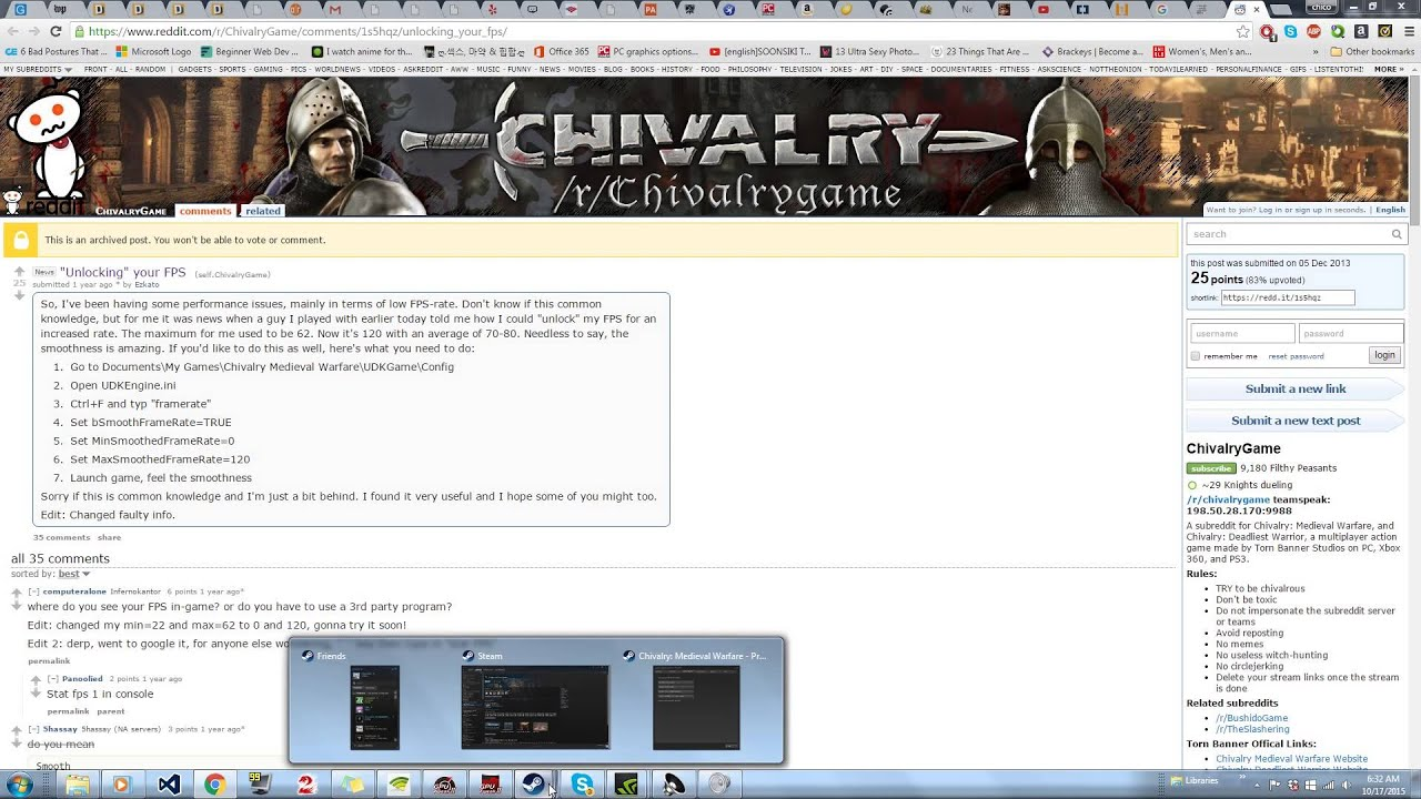 Chivalry Frame Rate issues Fix - YouTube
