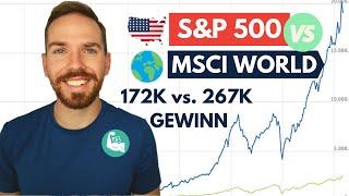 🇺🇸S&P 500 oder 🌍MSCI World - 10 Jahres Performance: aus 100k wurden 367k (+ bester S&P 500 ETF!)