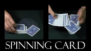 Easy card flourish and production - Card spin
